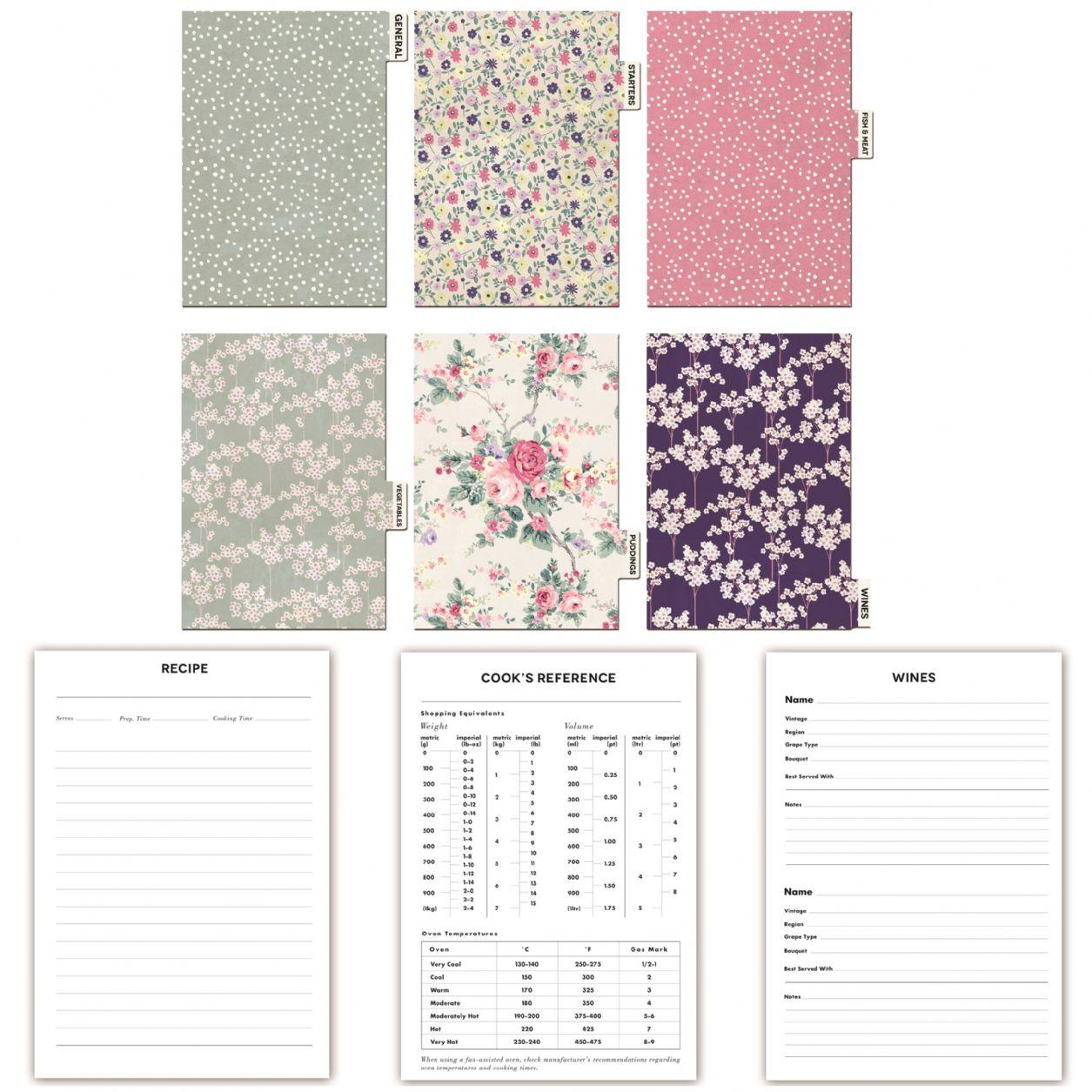 Recipe Journal - Kirstie Allsopp Vintage Garden Stationery Blueprint